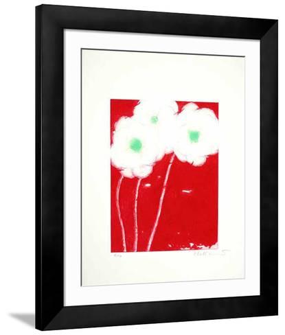 Dreimal Weiss auf Rot, c.2000-Josef Hirthammer-Framed Art Print