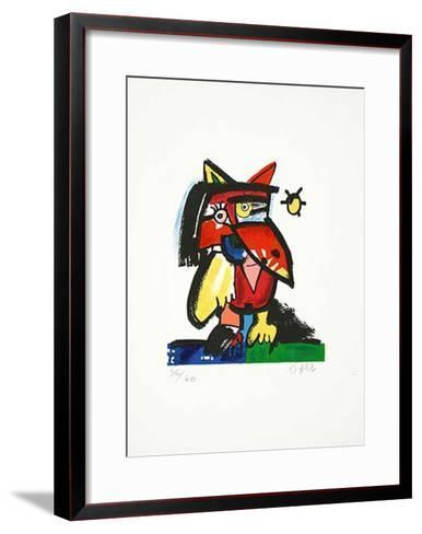 Katzenvogel mit Sonne-Otmar Alt-Framed Art Print