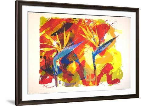 Strelizien Paradise (Turcoise)-Paul De Vries-Framed Art Print