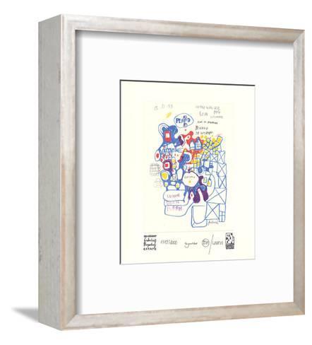 Werkverzeichnis mit Grafik A-Friedensreich Hundertwasser-Framed Art Print