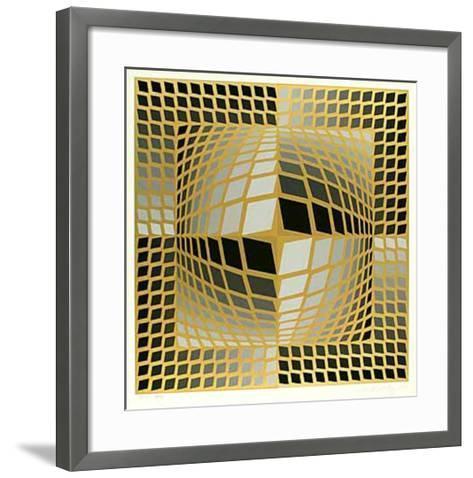 Do-Re-Victor Vasarely-Framed Art Print