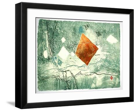 Spaceography III-Lebadang-Framed Art Print
