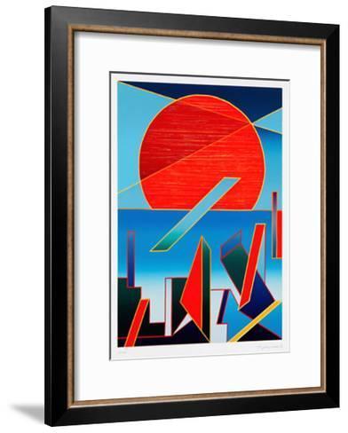 Bestrahlte Sonne-Ludwig Gebhard-Framed Art Print
