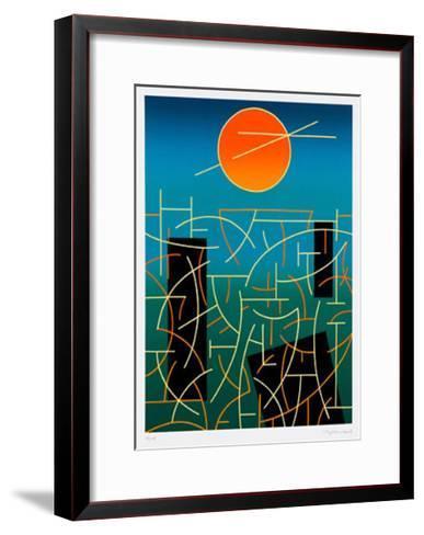 Landschaft 92-Ludwig Gebhard-Framed Art Print