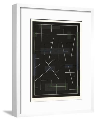 Linienspiel-Ludwig Gebhard-Framed Art Print