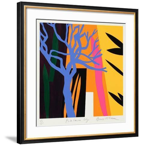 Blue Tree-Bruce Mclean-Framed Art Print