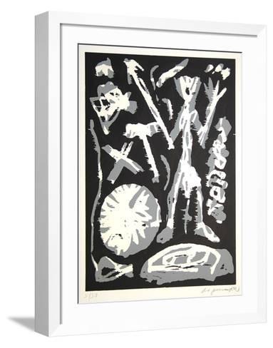 MVKS Grau-weiße Figur-A^ R^ Penck-Framed Art Print