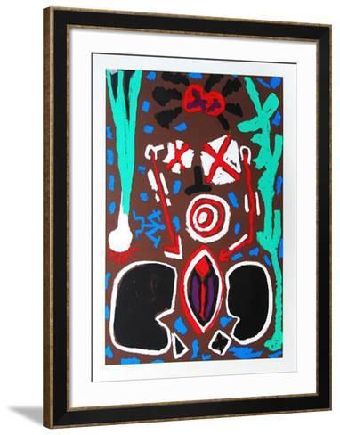 Keramik-A^ R^ Penck-Framed Art Print