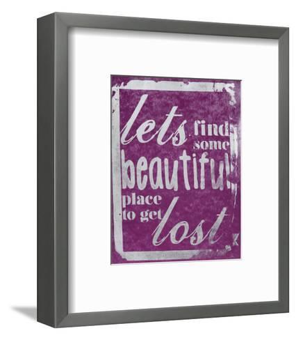 Beautiful Place (Purple)-Kyle & Courtney Harmon-Framed Art Print