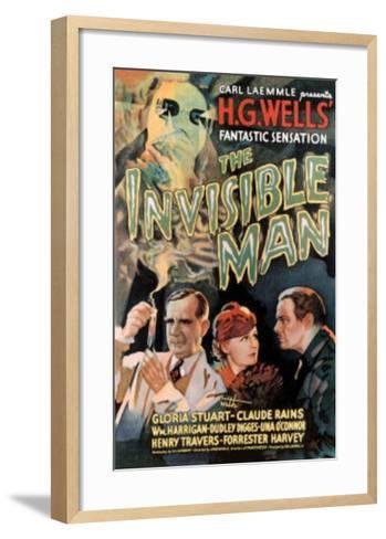 The Invisible Man Movie Claude Rains Gloria Stuart--Framed Art Print