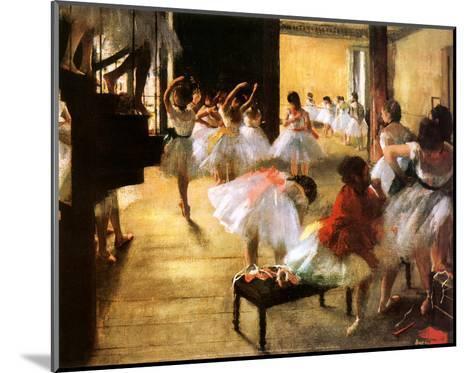 Ballet Rehearsal-Edgar Degas-Mounted Art Print