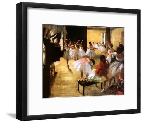 Ballet Rehearsal-Edgar Degas-Framed Art Print