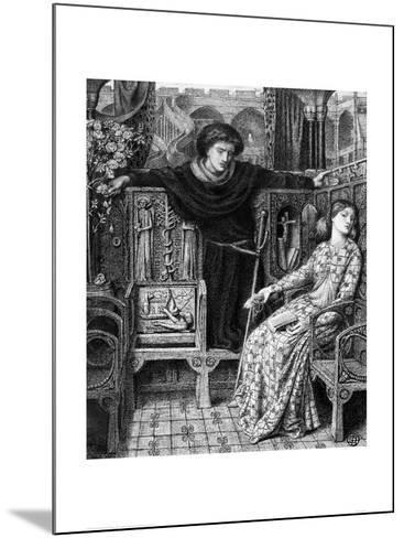 Hamlet and Ophelia, c. 1858-Dante Gabriel Rossetti-Mounted Giclee Print