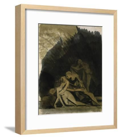 King Lear and the Dead Cordelia-Henry Fuseli-Framed Art Print