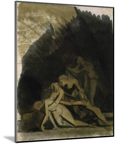 King Lear and the Dead Cordelia-Henry Fuseli-Mounted Giclee Print