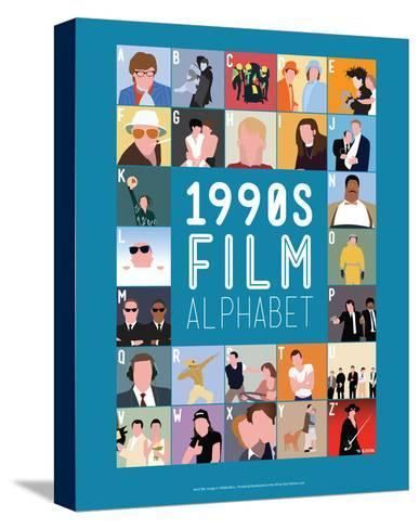 1990s Film Alphabet - A to Z-Stephen Wildish-Stretched Canvas Print