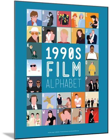 1990s Film Alphabet - A to Z-Stephen Wildish-Mounted Giclee Print