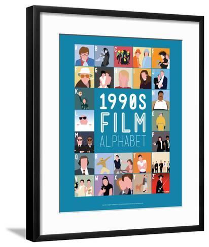 1990s Film Alphabet - A to Z-Stephen Wildish-Framed Art Print