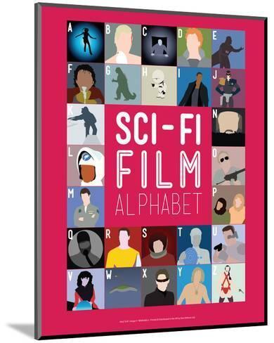 Sci-Fi Film Alphabet - A to Z-Stephen Wildish-Mounted Giclee Print