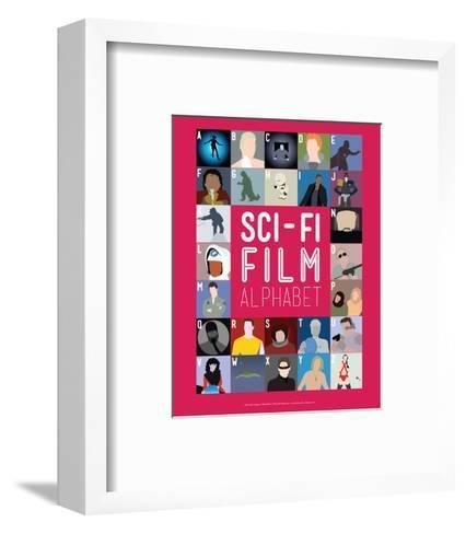 Sci-Fi Film Alphabet - A to Z-Stephen Wildish-Framed Art Print