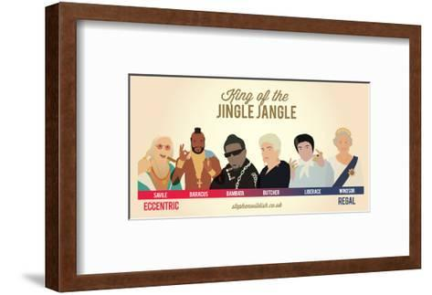 King of the Jingle Jangle-Stephen Wildish-Framed Art Print