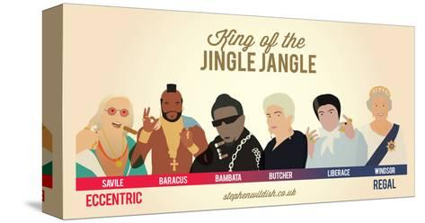 King of the Jingle Jangle-Stephen Wildish-Stretched Canvas Print