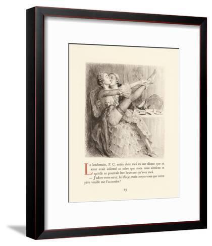 A Pretty Stocking-Gabriel Ferrier-Framed Art Print