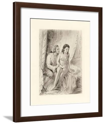 Amorous Embrace-Gabriel Ferrier-Framed Art Print