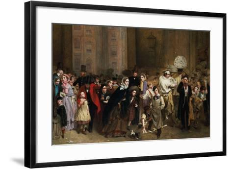 The General Post Office, One Minute to Six: 1860-George Elgar Hicks-Framed Art Print
