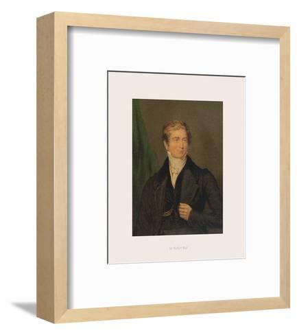 Sir Robert Peel-The Victorian Collection-Framed Art Print