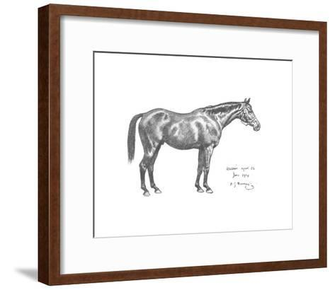 The First Study of Warrior-Sir Alfred Munnings-Framed Art Print