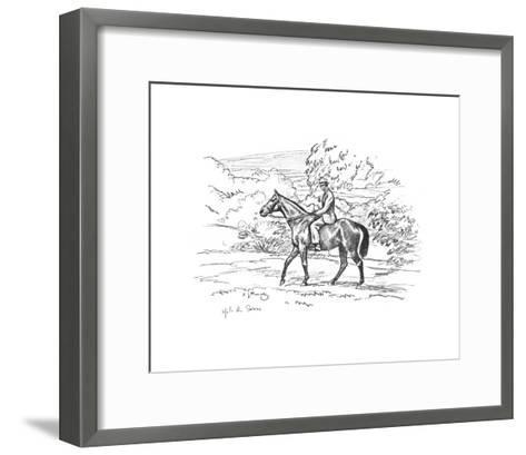 Warrior On the Way Up To the Downs-Sir Alfred Munnings-Framed Art Print