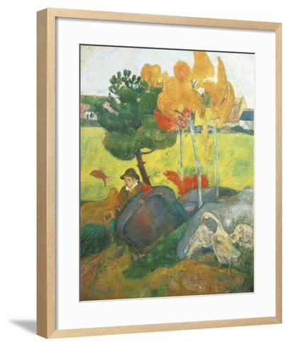 Breton Landscape-Paul Gauguin-Framed Art Print