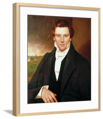 Portrait of Joseph Smith-19th Century American School?-Framed Art Print