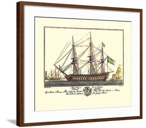 Nave Suezese di 84 Cannoni-Guiseppe Allezard-Framed Art Print
