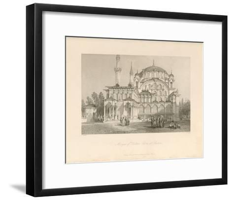 Mosque of Sultan Selim at Scutari-Sir Thomas Allom-Framed Art Print