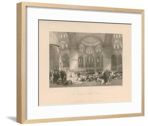 The Mosque of Sultan Achmet-Thomas Allom-Framed Art Print
