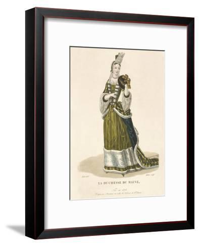 La Duchesse du Maine-Louis-Marie Lante-Framed Art Print