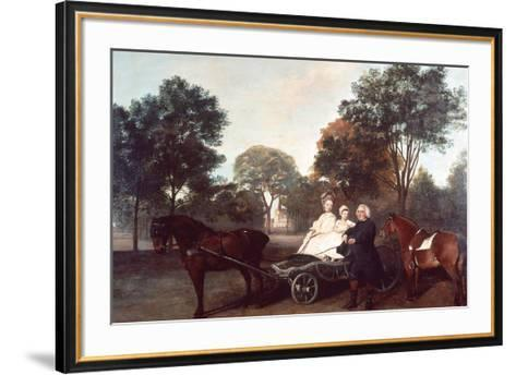 The Rev Robert Carter Thelwall and Family-George Stubbs-Framed Art Print