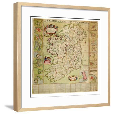 Tabula Hiberniae Novissima Et Emendatissima-Henry Pratt-Framed Art Print
