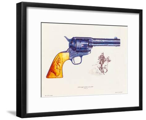 Colt 45 Calibre, 1892-J. Pritchard-Framed Art Print