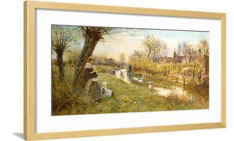 Watching the Ducks-Thomas James Lloyd-Framed Art Print