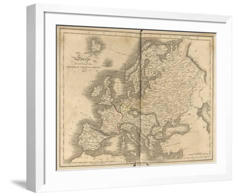 Europe According To the Treaty of Vienna-T^ Clerk-Framed Art Print