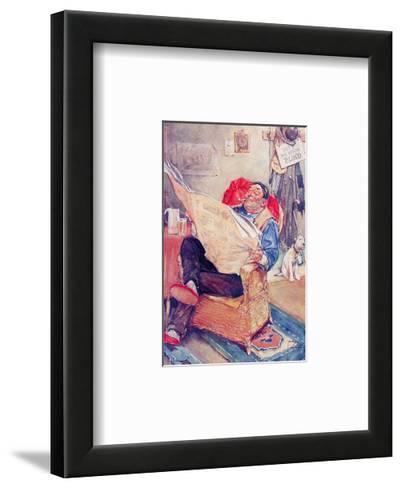 Early Closing Day-Lawson Wood-Framed Art Print