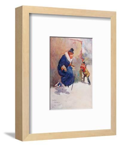 He's Got my Kite!-Lawson Wood-Framed Art Print
