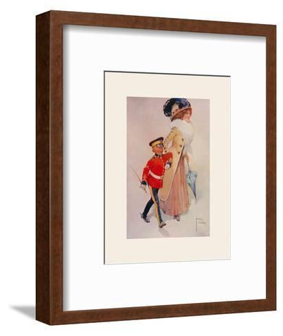 His First Engagement-Lawson Wood-Framed Art Print