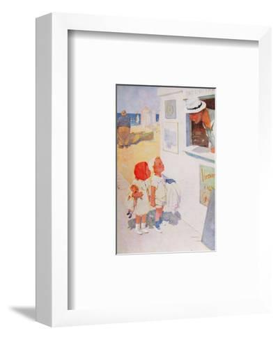 Is Mixed Bathing Allowed?-Lawson Wood-Framed Art Print