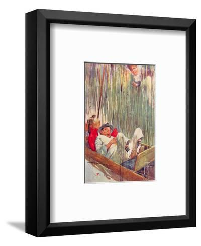 Moses in the Bullrushes-Lawson Wood-Framed Art Print