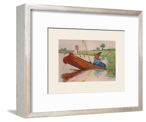 Steer Henry, You're the Coxswain!-Charles Crombie-Framed Art Print