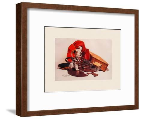 Breaking the Record-Philip Baynes-Framed Art Print